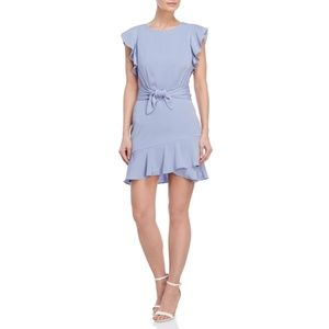 LUCY PARIS Serenity Ruffle Trim Tie Waist Dress